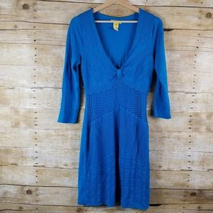 Catherine Malandrino Large Blue Sweater Dress